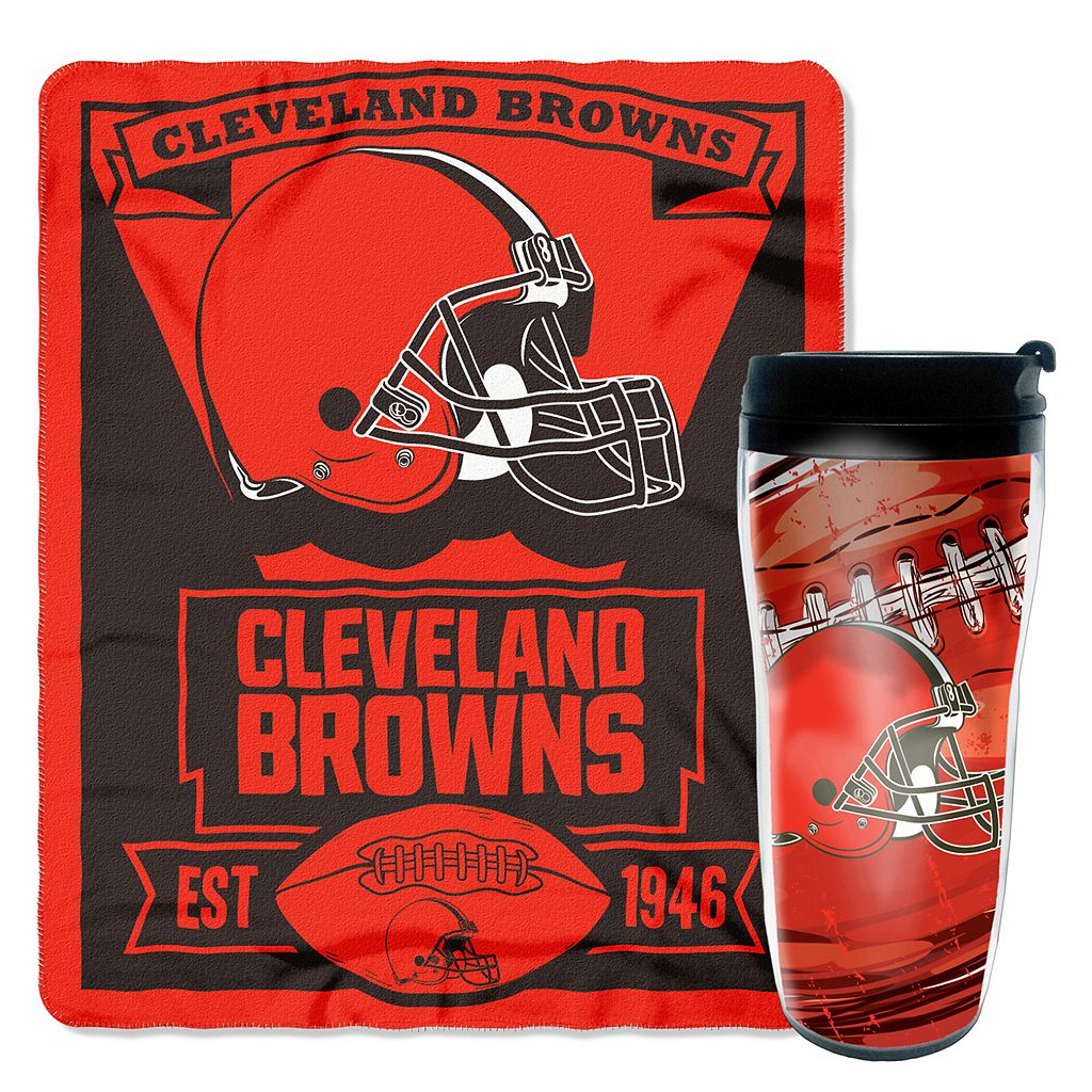 Cleveland Browns Mug N' Snug Throw & Tumbler Set by Northwest