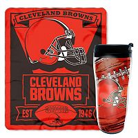 Cleveland Browns Mug N' Snug Throw & Tumbler Set by Northwest