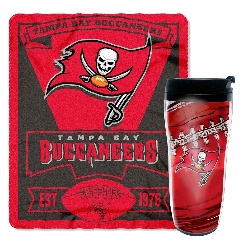 Tampa Bay Buccaneers Mug N' Snug Throw & Tumbler Set by Northwest