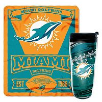 Miami Dolphins Mug N' Snug Throw & Tumbler Set by Northwest