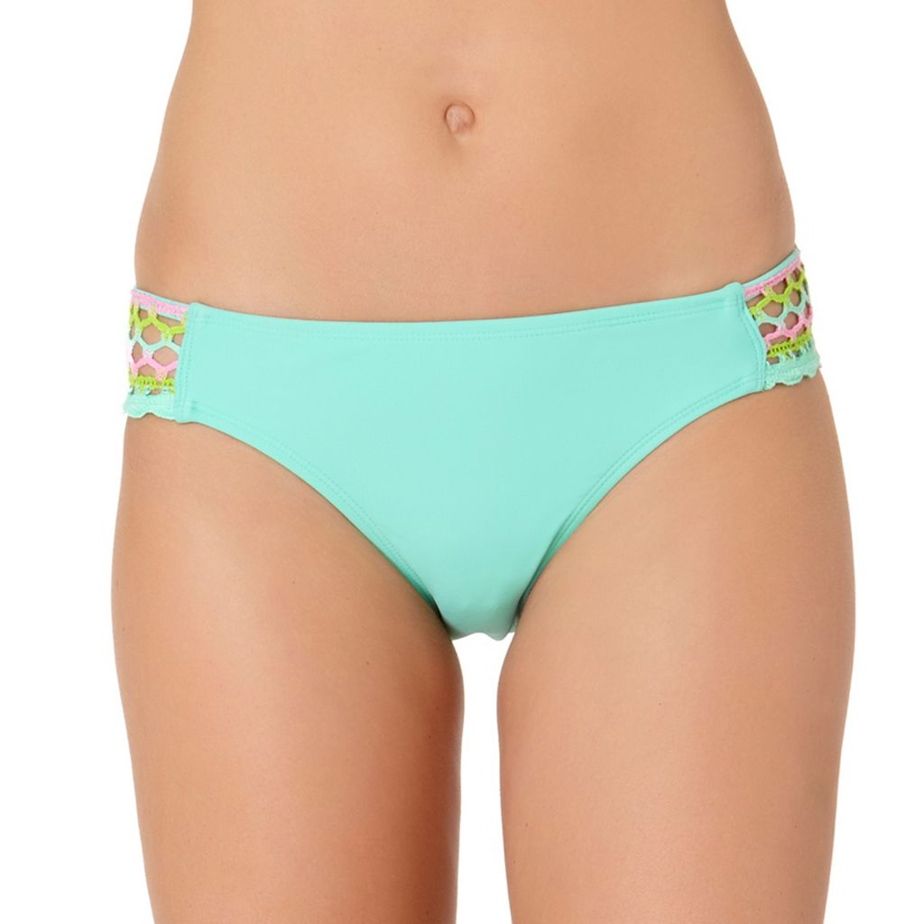 In Mocean Lacer Tab Crochet Trim Bikini Bottoms
