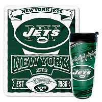 New York Jets Mug N' Snug Throw & Tumbler Set by Northwest