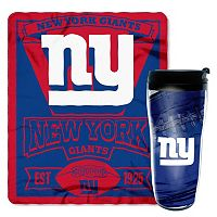 New York Giants Mug N' Snug Throw & Tumbler Set by Northwest