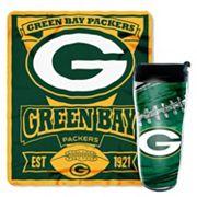 Green Bay Packers Mug N' Snug Throw & Tumbler Set by Northwest