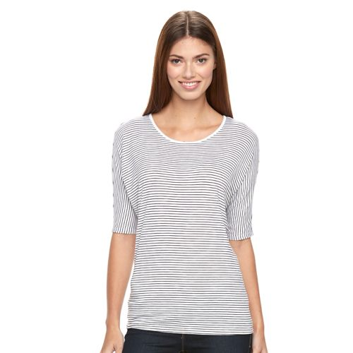Women's Apt. 9® Striped Dolman Tee