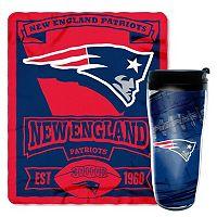 New EnglandPatriots Mug N' Snug Throw & Tumbler Set by Northwest