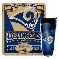 Los Angeles Rams Mug N' Snug Throw & Tumbler Set by Northwest