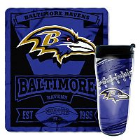Baltimore Ravens Mug N' Snug Throw & Tumbler Set by Northwest