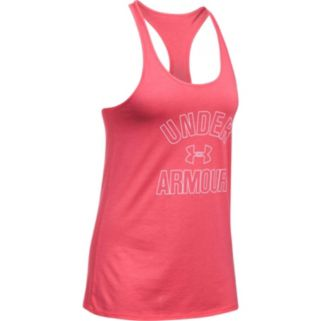Women's Under Armour Wordmark Racerback Graphic Tank