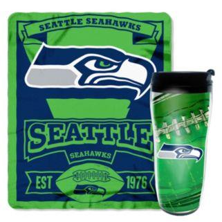 Seattle Seahawks Mug N' Snug Throw & Tumbler Set by Northwest