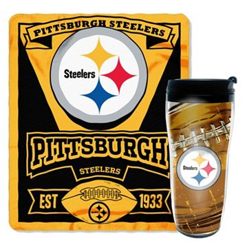 Pittsburgh Steelers Mug N' Snug Throw & Tumbler Set by Northwest