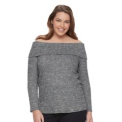 Plus Size Apt. 9® Ribbed Off-the-Shoulder Top