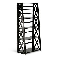 Simpli Home 5-Shelf Ladder Bookcase