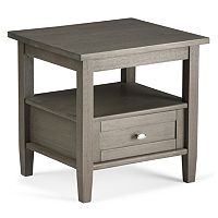 Simpli Home Warm Shaker Gray End Table