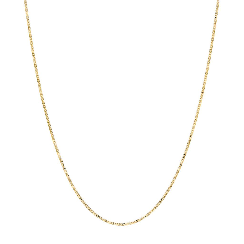 Everlasting Gold 14k Gold Wheat Chain Necklace - 18 in.