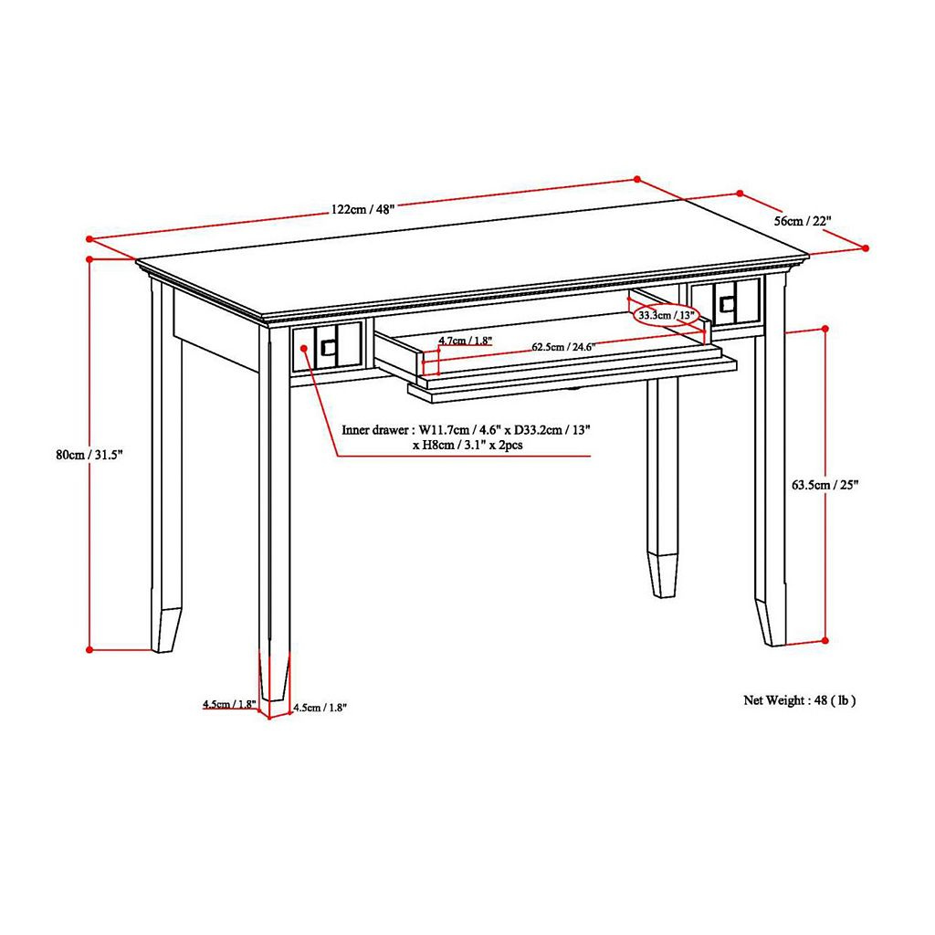 Simpli Home Acadian Desk