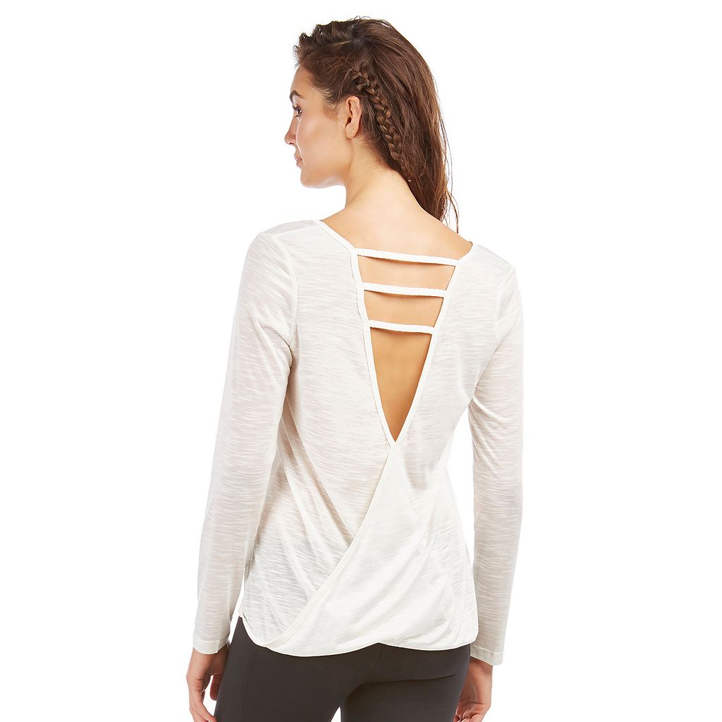 Women's Balance Collection Salina Strappy Long Sleeve Top