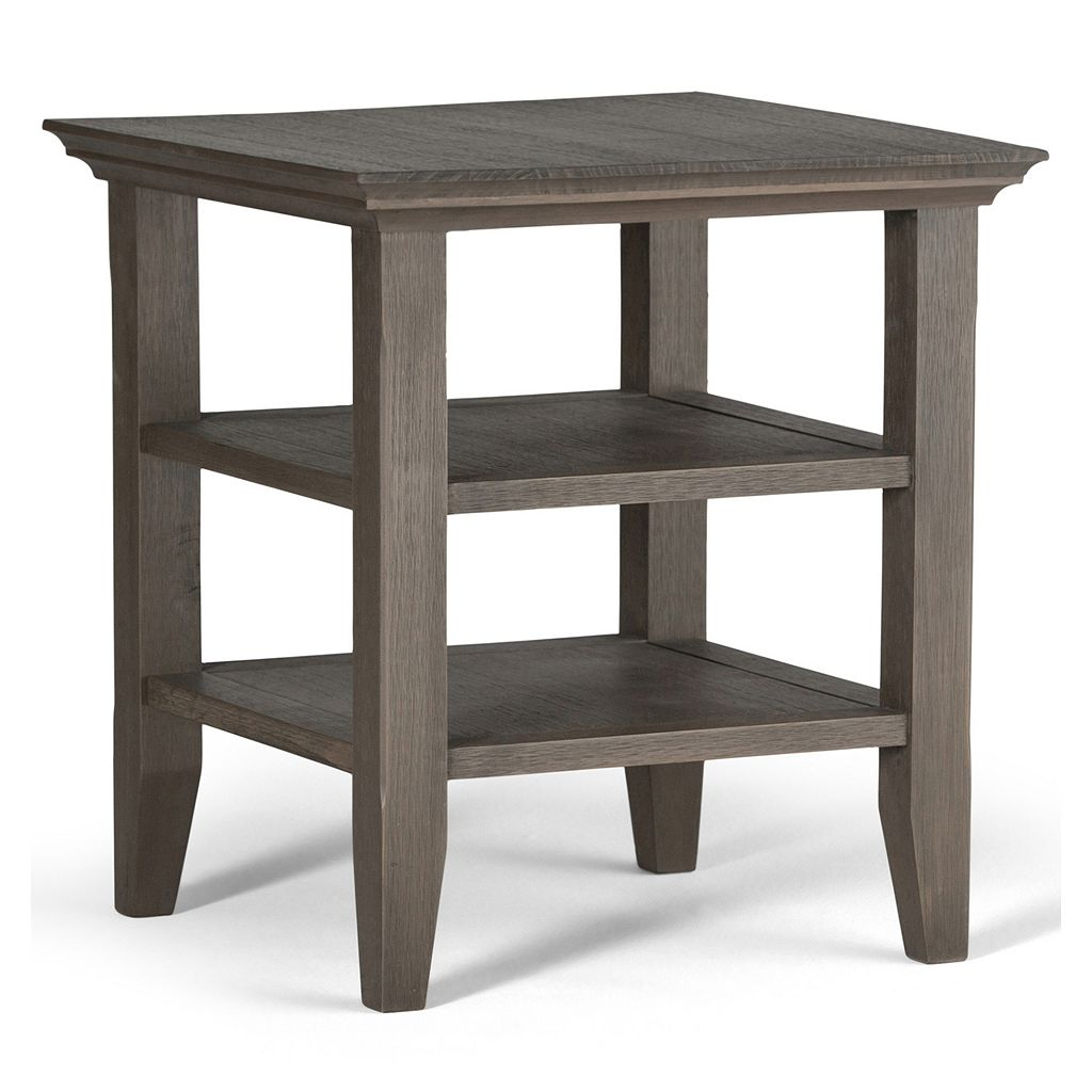 Simpli Home Acadian Distressed End Table
