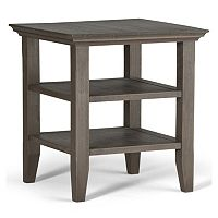 Simpli Home Acadian Distressed End Table
