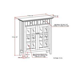 Simpli Home Acadian Storage Cabinet