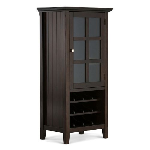 Simpli Home Acadian Wine Rack Storage Cabinet