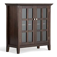 Simpli Home Acadian Low Storage Cabinet
