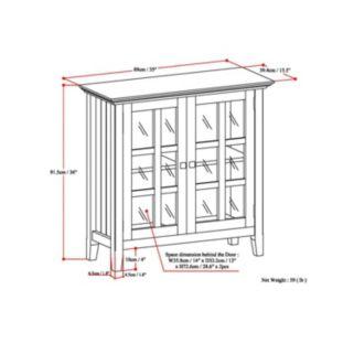 Simpli Home Acadian Low Storage Cabinet
