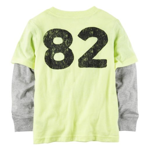 "Toddler Boy Carter's ""Unbeatable Rookie"" Mock-Layered Long Sleeve Graphic Tee"