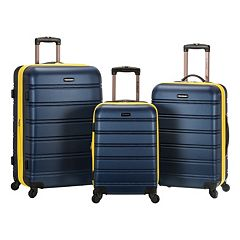 Rockland Melbourne Textured 3-Piece Hardside Spinner Luggage Set