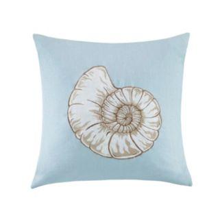 Madison Park Seashell Linen Throw Pillow