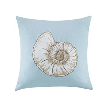 Madison Park Seashell Linen Throw Pillow