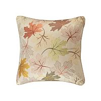 Madison Park Fallen Leaves Embroidered Throw Pillow
