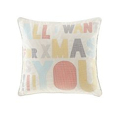 Madison Park Secret Holiday Message Throw Pillow