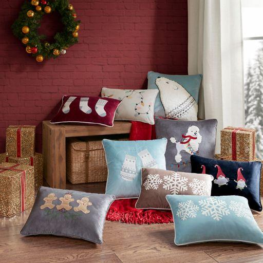 Madison Park Blissful Holiday Bear Throw Pillow
