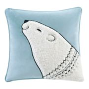 Madison Park Blissful Holiday Bear Throw Pillow