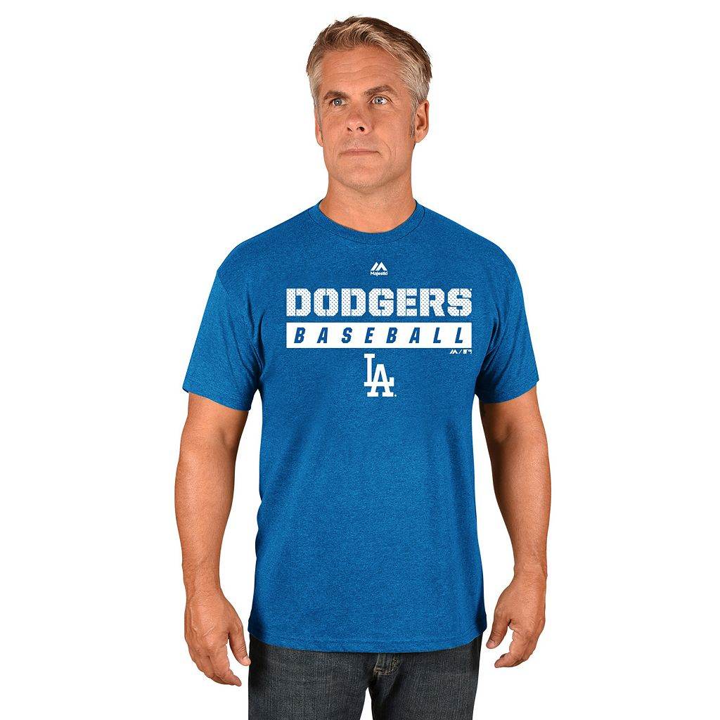 Men's Majestic Los Angeles Dodgers Proven Pastime II Tee
