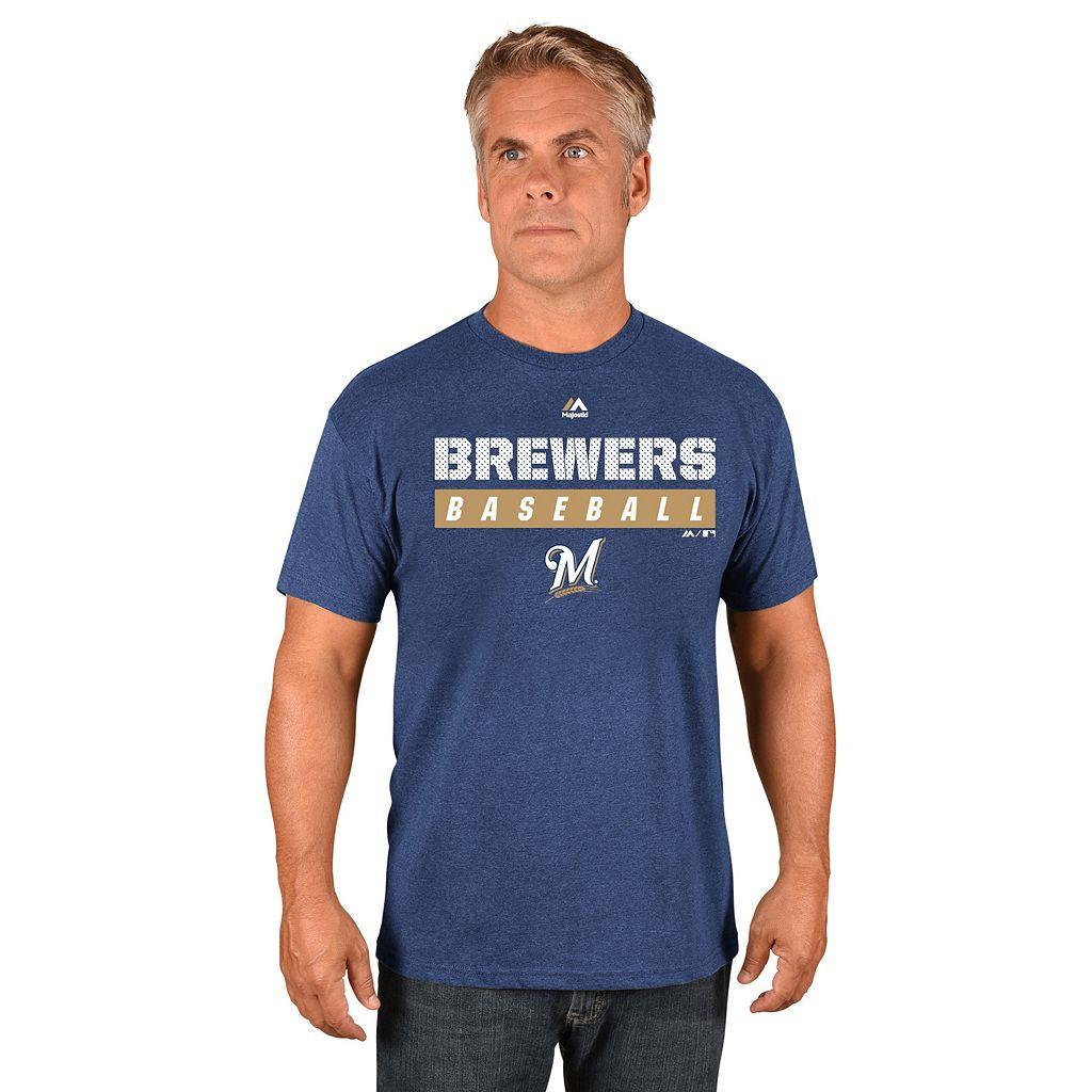 Men's Majestic Milwaukee Brewers Proven Pastime II Tee