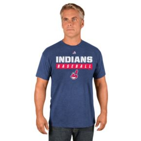 Men's Majestic Cleveland Indians Proven Pastime II Tee