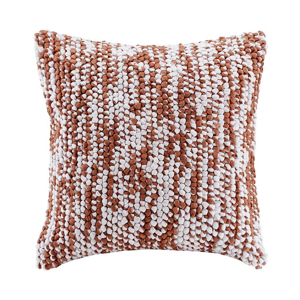 Madison Park Heathered Woven Throw Pillow