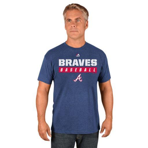 Men's Majestic Atlanta Braves Proven Pastime II Tee