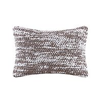 Madison Park Heathered Woven Oblong Throw Pillow