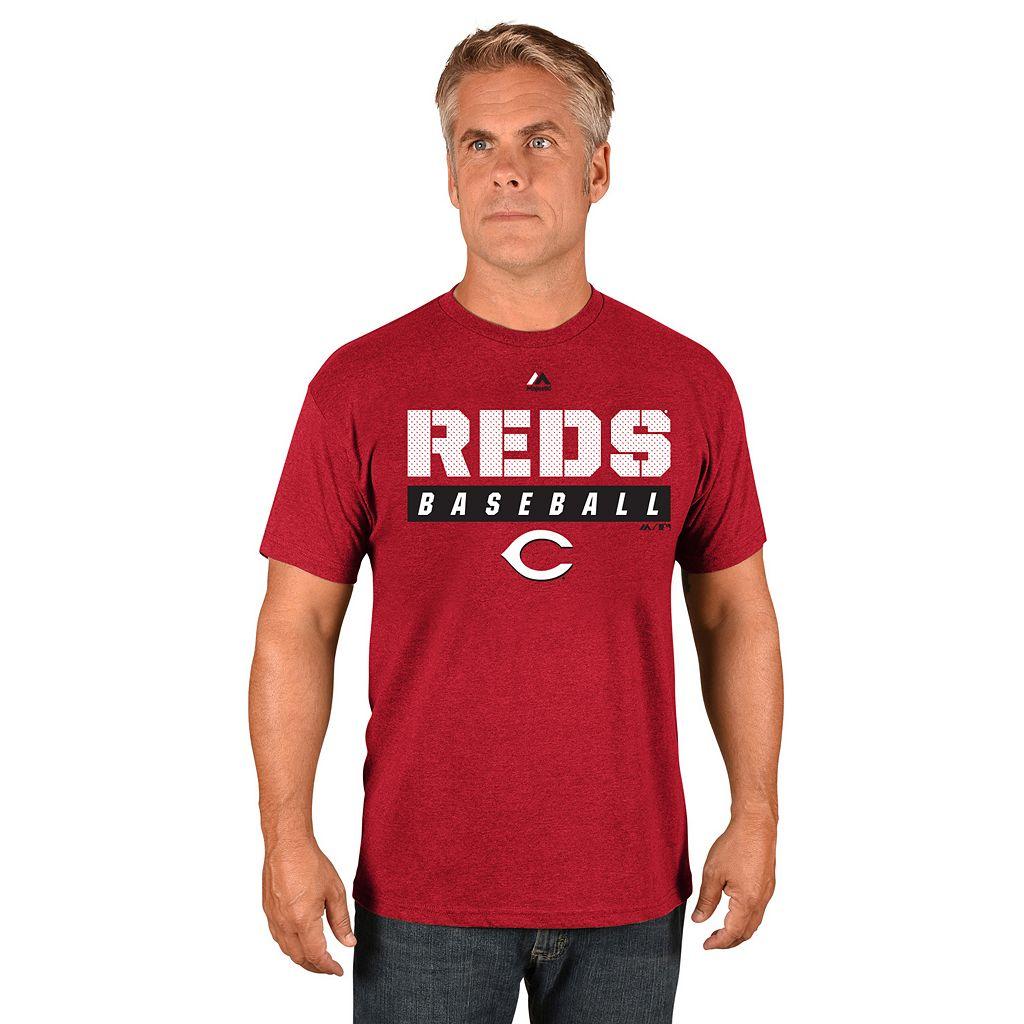 Men's Majestic Cincinnati Reds Proven Pastime II Tee