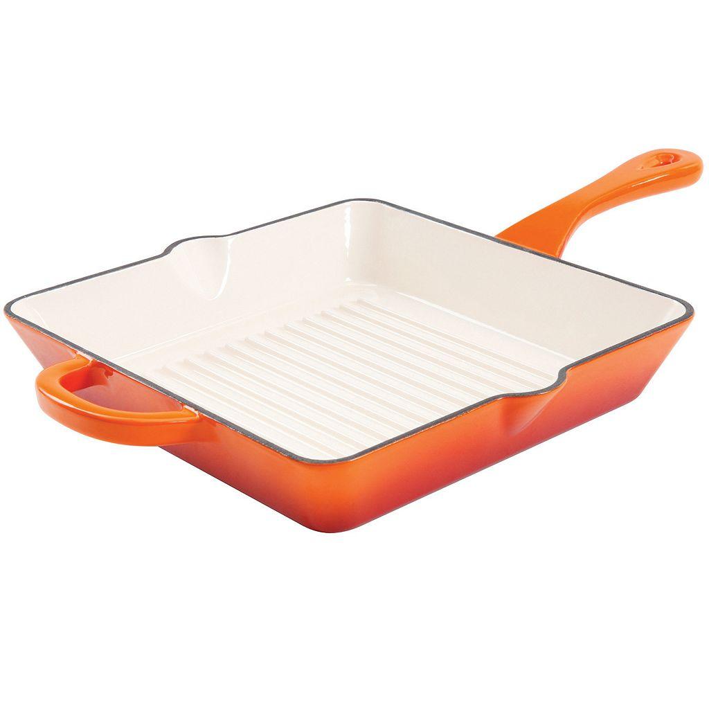 Crock-Pot 10-in. Enamel Cast-Iron Square Grill Pan