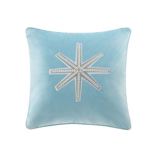 Madison Park Golden Snowflake Throw Pillow
