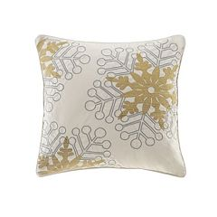 Madison Park Winter Snowflake Glitz Throw Pillow