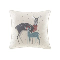 Madison Park Winter Wonderland Deer Throw Pillow