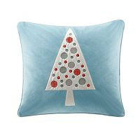Madison Park Velvet Tree Throw Pillow