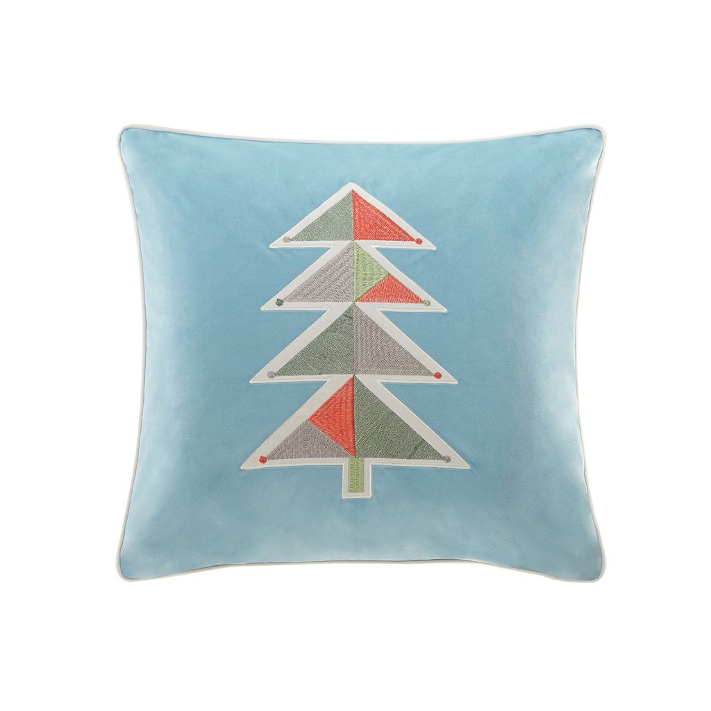 Madison Park Holiday Geo Tree Throw Pillow