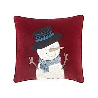 Madison Park Jolly the Snowman Throw Pillow