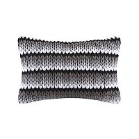 Madison Park Stripe Woven Oblong Throw Pillow